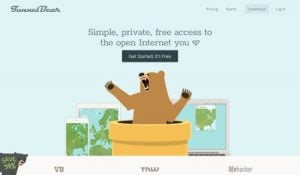 TunnelBear's website