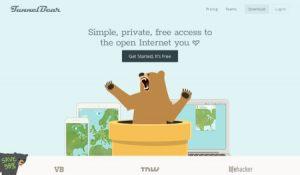TunnelBear website