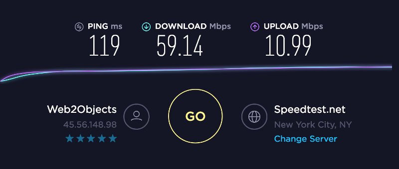 Internet connection speed test baseline to compare against