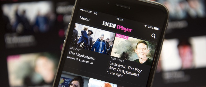 The BBC's iPlayer accessed with a UK IP address