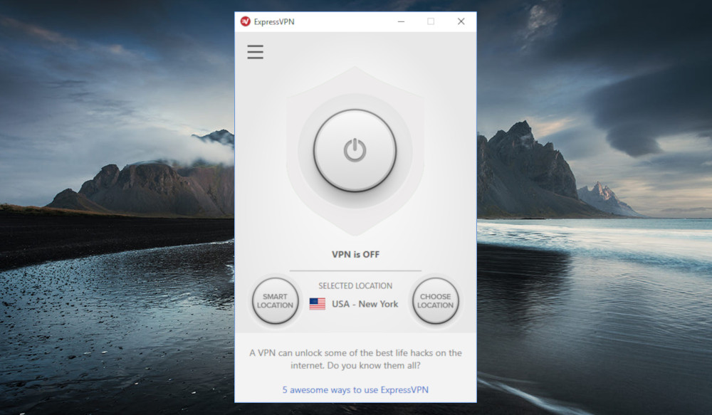 An ExpressVPN app disconnected from the service