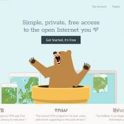 TunnelBear's homepage screenshot