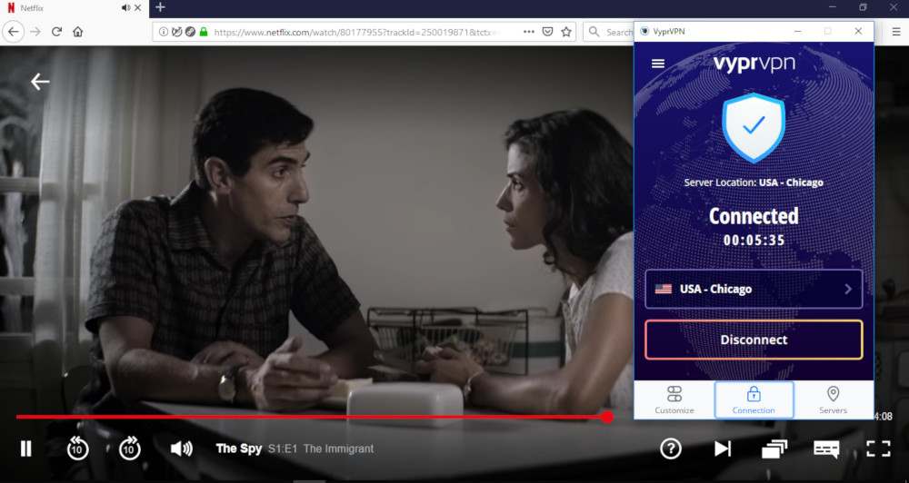 VyprVPN working with US Netflix