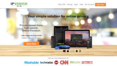 IPVanish's website