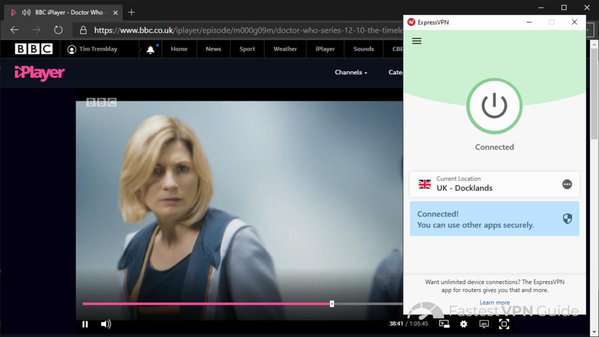 Streaming iPlayer using ExpressVPN