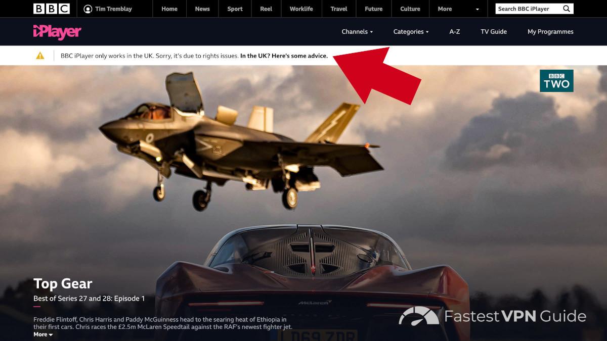Geo locked content on the BBC iPlayer