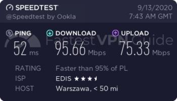 ibVPN best VPN server speed test results