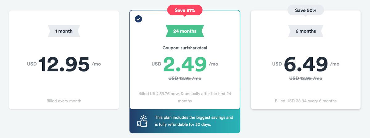 Surfshark 2-year deal coupon code