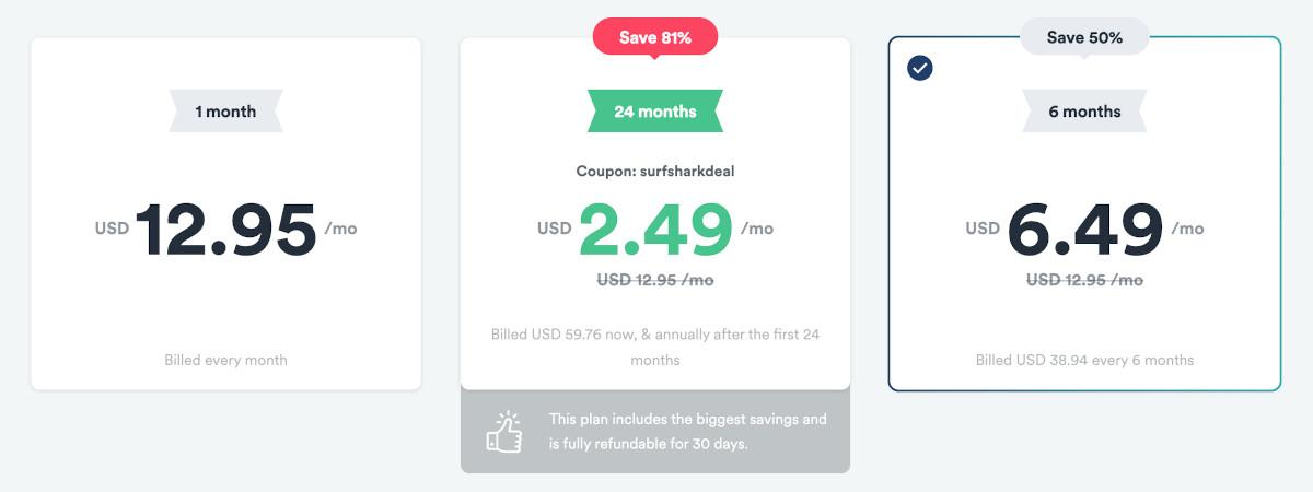 Surfshark 6-month deal coupon code