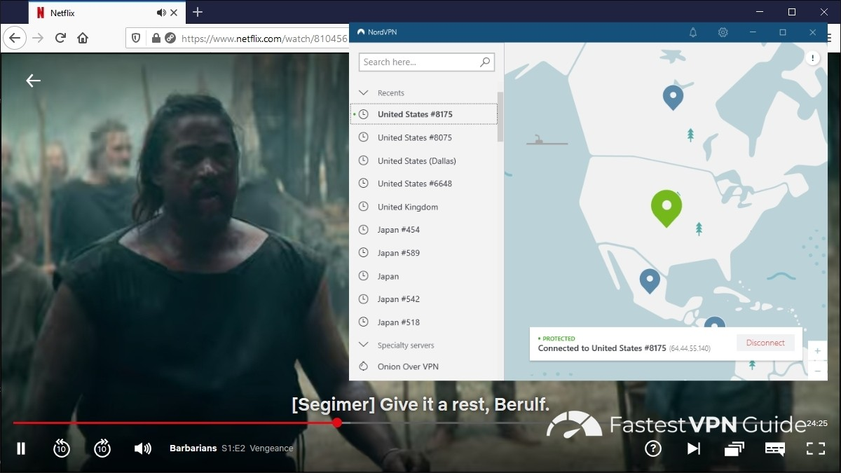 Watching US Netflix from New Zealand with NordVPN