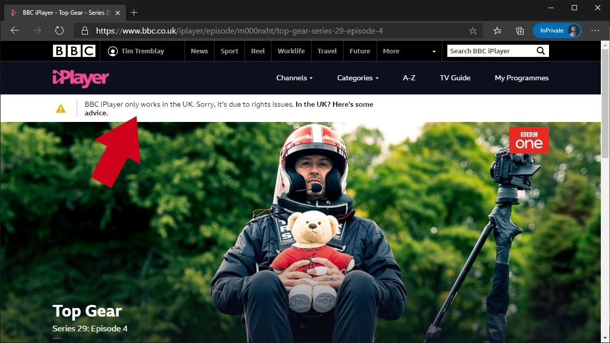 BBC iPlayer not working from Canada
