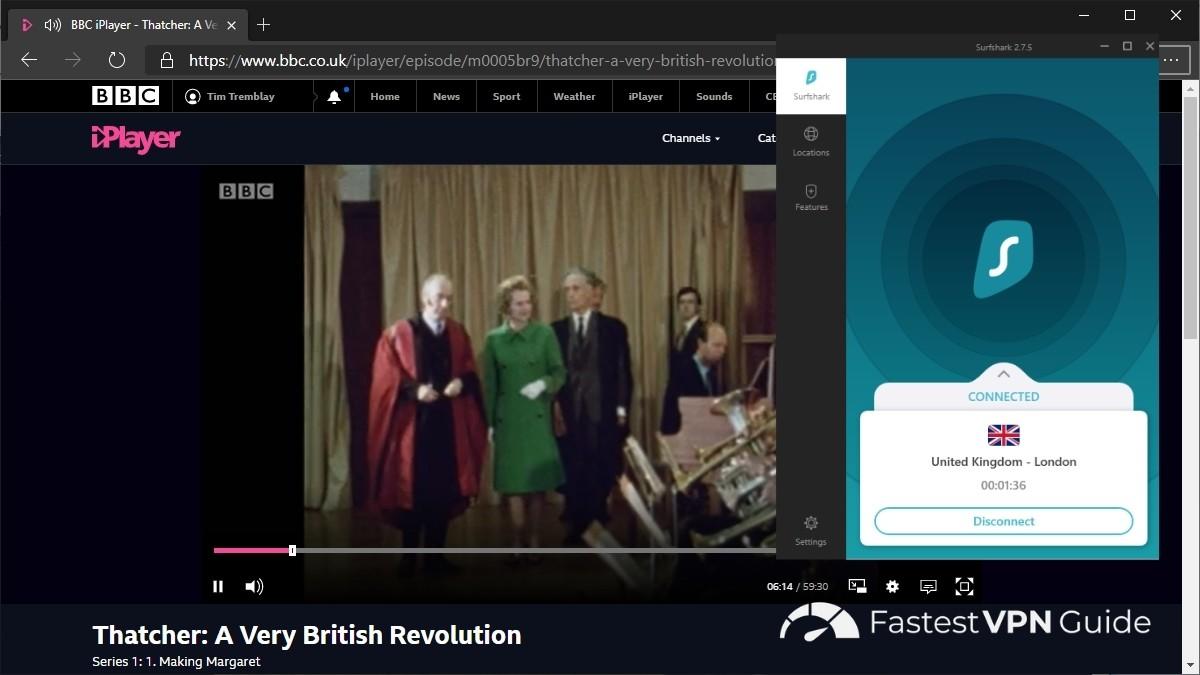 Access BBC iPlayer with Surfshark