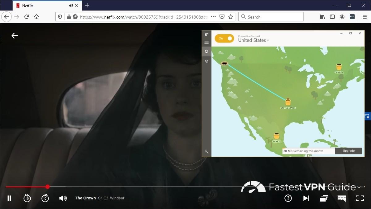 TunnelBear working with Netflix