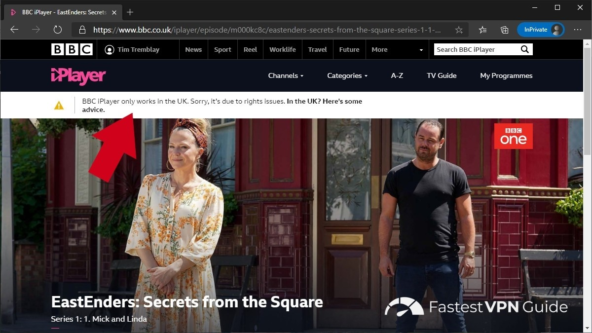 BBC iPlayer not working from Spain