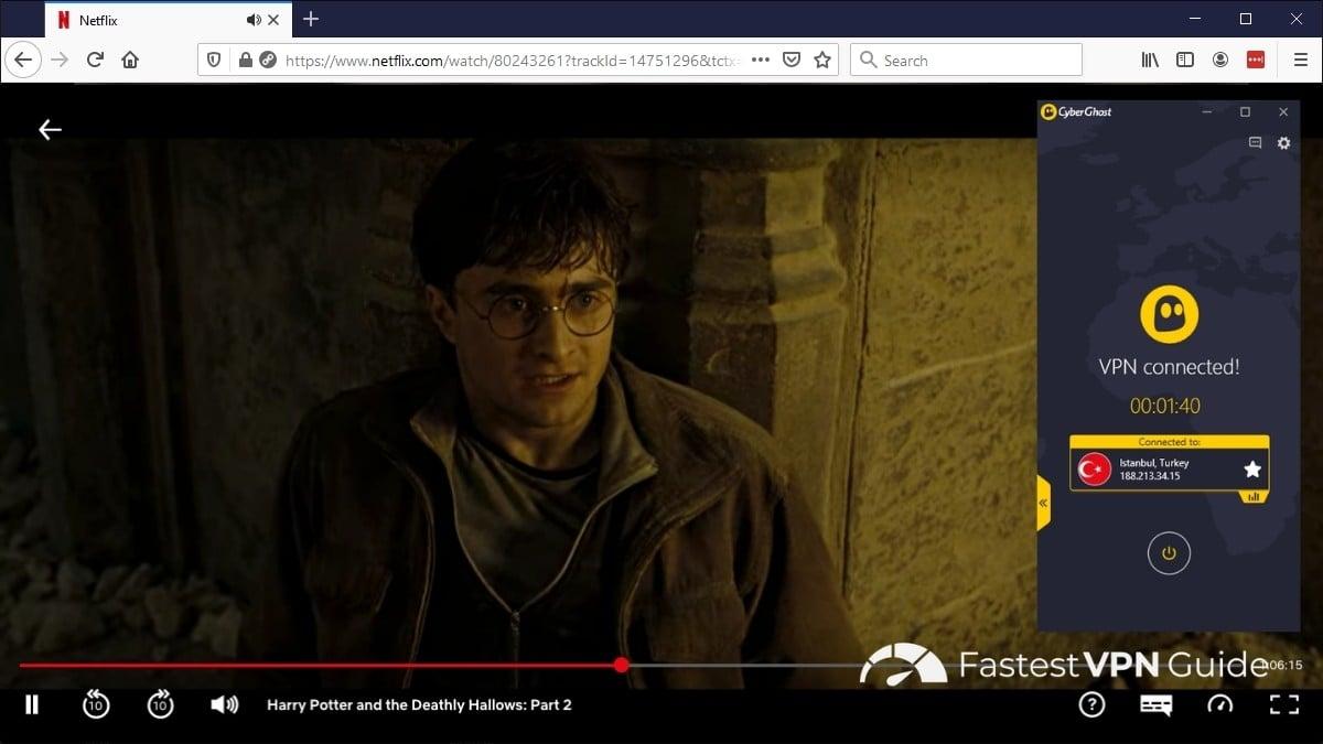 Harry Potter on Netflix Turkey