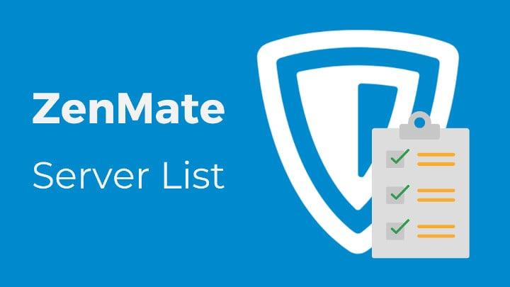 Zenmate server list