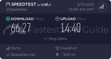TunnelBear best VPN server speed test results