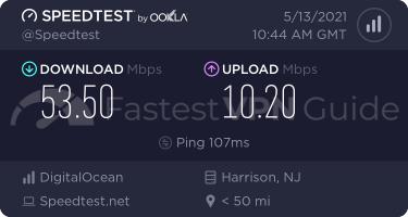 TunnelBear Unites States VPN server speed test results