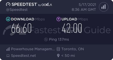 VyprVPN Canada VPN server speed test results