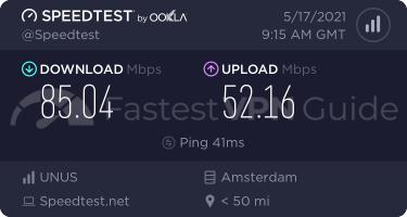 VyprVPN Netherlands VPN server speed test results