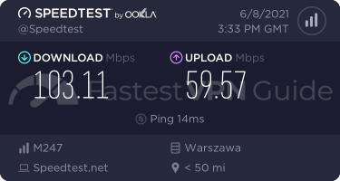 CyberGhost best VPN server speed test results