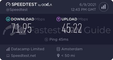 HideMyAss Netherlands VPN server speed test results